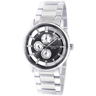 Kenneth Cole Men's Transparent Silvertone Steel Quartz Watch