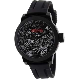 Kenneth Cole Recation Men's Black Silicone Quartz Watch