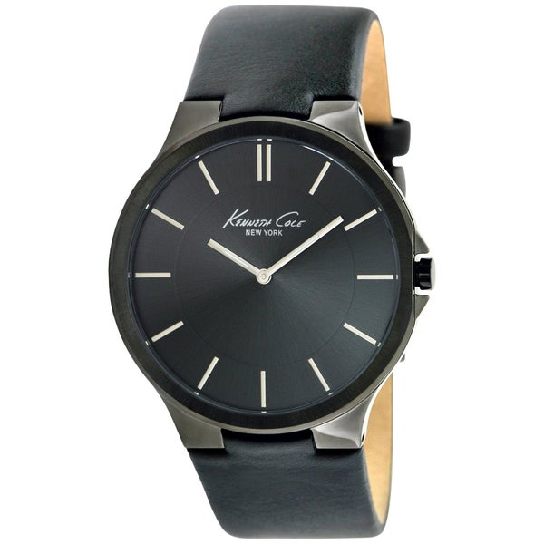 Kenneth Cole Men's Black Calf Skin Quartz Watch