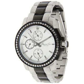 Kenneth Cole Women's Two-tone Black/ Silvertone Steel Automatic Watch