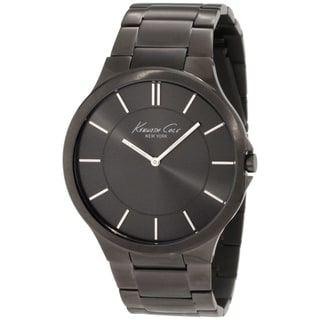Kenneth Cole Men's Grey Dial and Grey Stainless Steel Slim Quartz Watch