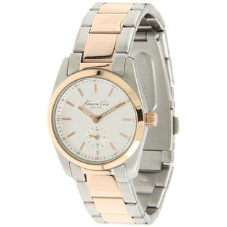 Kenneth Cole Men's Classics White Dial and Silver Steel Quartz Watch