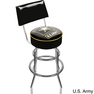 Trademark Games U.S. Army Padded Swivel Bar Stool with Back