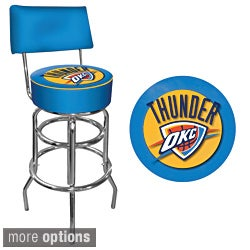 Trademark Games Officially Licensed NBA Padded Bar Stool with Back