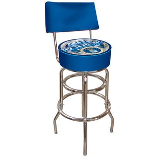Trademark Games United States Military Padded Swivel Bar Stool with Back