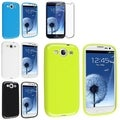 BasAcc Blue/ Green Case/ Screen Protector for Samsung Galaxy S3