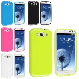 BasAcc TPU Rubber Skin Cases for Samsung� Galaxy S3 (Pack of 5)