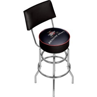 Trademark Games Officially Licensed Miller Padded Bar Stool with Back