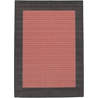 Recife Terra Cotta Checkered Field Rug (7'6 x 10'9)