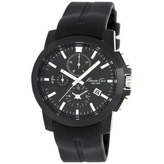 Kenneth Cole Men's Dress Sport Black Dial and Black Resin Quartz Watch