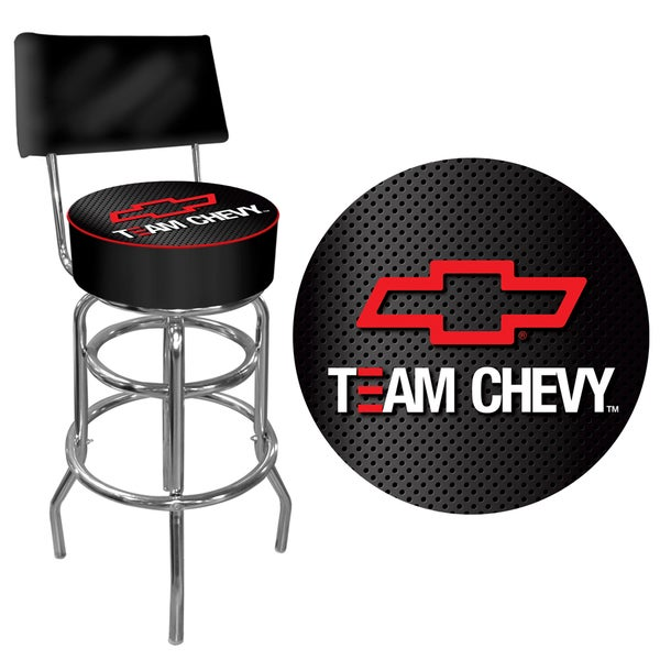 Trademark Games Team Chevy Racing Padded Bar Stool with Back