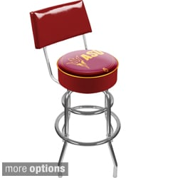 Trademark Games Offically Licensed Collegiate Padded Bar Stools with Back