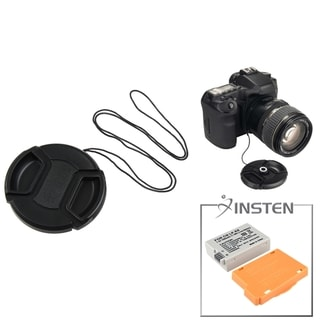 INSTEN Battery/ Lens Cap/ Cap Keeper for Canon EOS Rebel T2i/ 550D