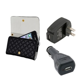 BasAcc Black Case/ Travel Charger/ Car Charger for Apple iPhone 4/ 4S