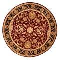 Herat Oriental Indo Hand-tufted Mahal Red/ Black Wool Rug (8' x 8' Round)