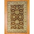 Indo Hand-tufted Mahal Brown/ Beige Wool Rug (5' x 8')