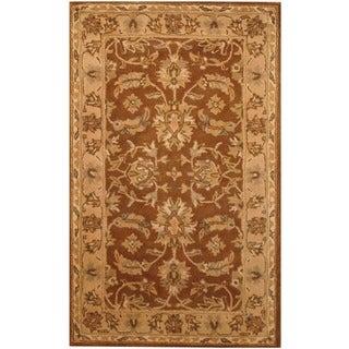 Indo Hand-tufted Mahal Brown/ Beige Wool Rug (3'3 x 5'3)