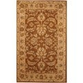 Indo Hand-tufted Mahal Brown/ Beige Wool Rug (3'3 x 5'3)