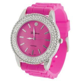 Geneva Platinum Women's Rhinestone Watch