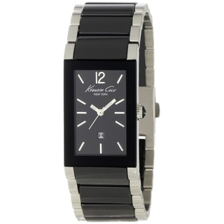 Kenneth Cole Men's 'KC4740' Black Ceramic Bracelet Quartz Watch