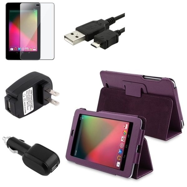 BasAcc Case/ Screen Protector/ Chargers/ Cable for Google Nexus 7