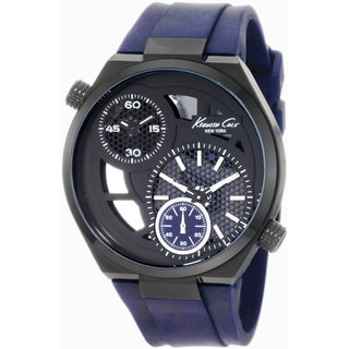 Kenneth Cole Men's 'KC1680' Blue Polyurethane Quartz Watch