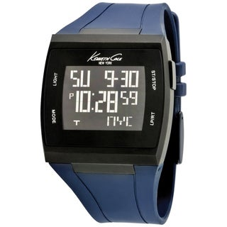 Kenneth Cole Men's 'KC1669' Blue Silicone Strap Digital Watch