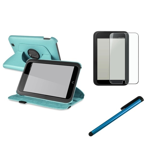 INSTEN Blue Phone Case Cover/ Screen Protector/ Stylus for Barnes & Noble Nook HD