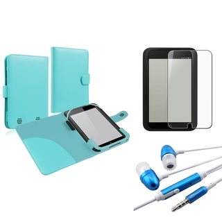 INSTEN Blue Phone Case Cover/ Screen Protector/ Headset for Barnes & Noble Nook HD