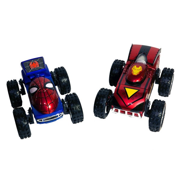 Marvel Regenr8rs Spiderman and Iron Man 1:24 Scale Car Set