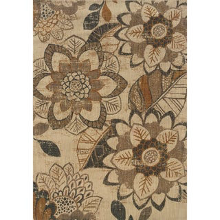 Indoor Ivory/ Grey Area Rug (1'10 x 3'3)