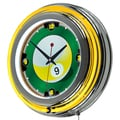 9 Ball 14-inch Neon Wall Clock