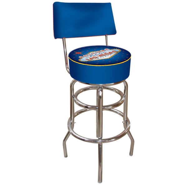 Trademark Games Fabulous Las Vegas Padded Bar Stool with Back