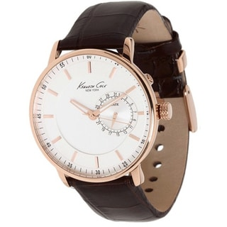 Kenneth Cole Men's Classics Brown Crocodile Leather Strap Quartz Watch