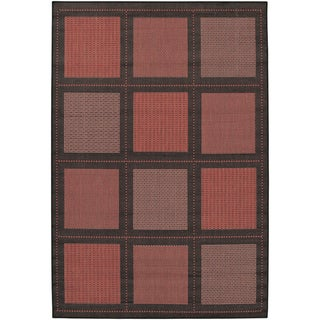 Recife Summit Terra-Cotta/Black Rug (3'9 x 5'5)