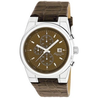 Kenneth Cole Men's Brown Calf Skin Strap Quartz Watch