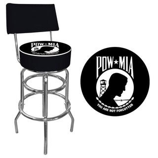 Trademark Games POW Padded Bar Stool with Back