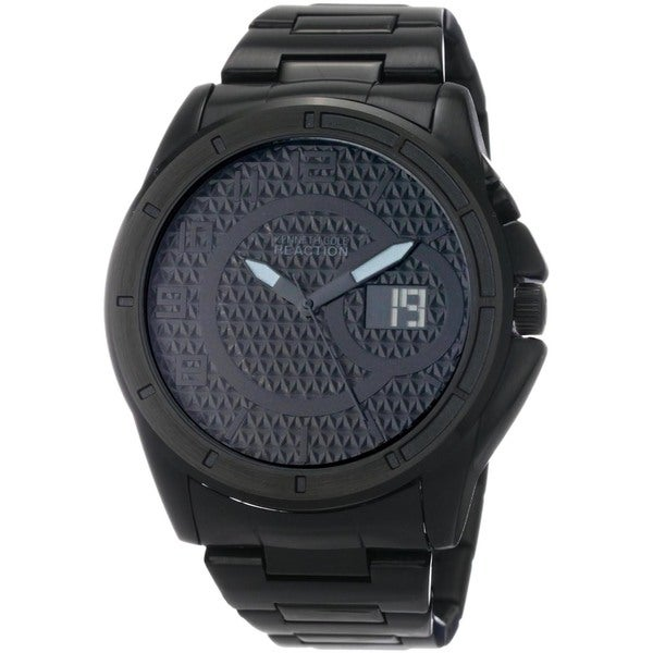 Kenneth Cole Men's Reaction Black Stainless-Steel Analog Quartz Watch