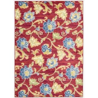 Waverly Aura Flora by Nourison Lipstick Area Rug (7'9 x 10'10)
