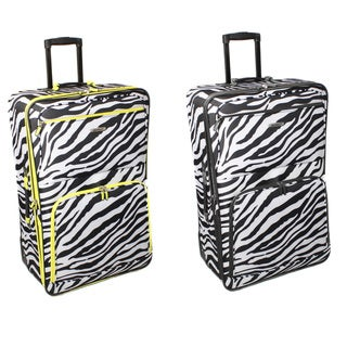 Rockland 28-inch Zebra Expandable Rolling Upright Luggage
