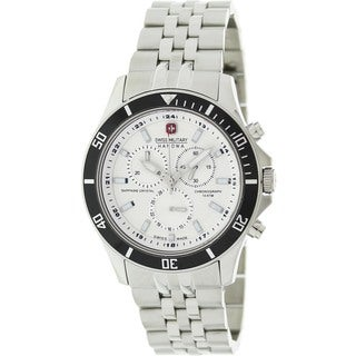 Swiss Military Hanowa Men's Flagship Silver Stainless Steel Swiss Chronograph Watch