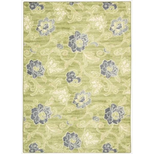 Waverly Aura of Flora Refresh Wasabi Area Rug by Nourison (7'9 x 10'10)