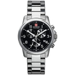Swiss Military Hanowa Men's Swiss Soldier Silver Stainless-Steel Bracelet-Strap Swiss Quartz Watch