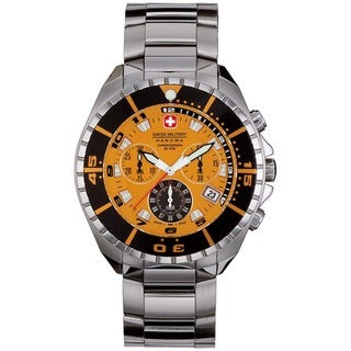 Swiss Military Hanowa Men's Sealander Silver Stainless Steel Swiss Quartz Watch