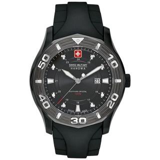 Swiss Military Hanowa Men's Oceanic Black Rubber Swiss Quartz Watch