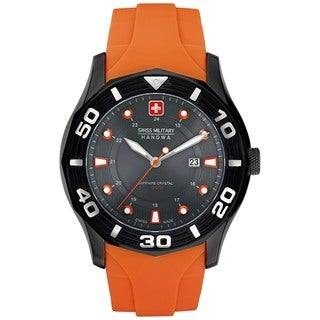 Swiss Military Hanowa Men's Oceanic Orange Polyurethane Swiss Quartz Watch