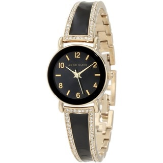 Anne Klein Women's Black Leather Quartz Watch