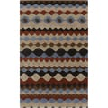 Hand-tufted Desert Sand Geometric Shapes Wool Rug (3'3 x 5'3)
