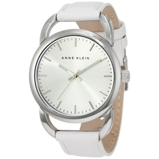 Anne Klein Women's White Calf Skin Quartz Watch