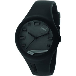 Puma Men's Black Silicone Strap Quartz Watch